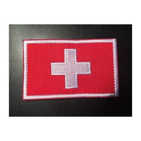 Swiss flag patch 8 x 5cm