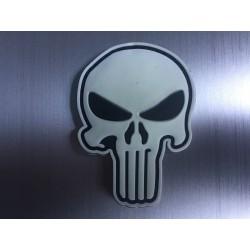 Skull patch 2d rubber luminous
