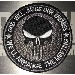 Patch velcro Punisher rond