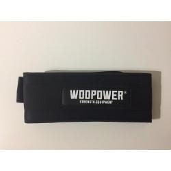 Nylon weightlifting belt black colour