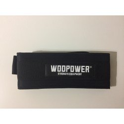 Nylon weightlifting belt black colour